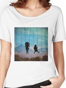 Friends on a Swingset Women's Relaxed Fit T-Shirt