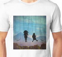 Friends on a Swingset Unisex T-Shirt