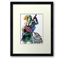 Zelda Link with Wolf Framed Print