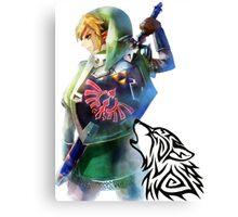Zelda Link with Wolf Canvas Print
