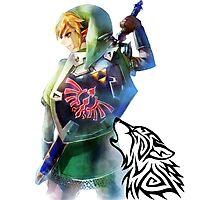 Zelda Link with Wolf Photographic Print