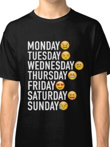 Moods of the Week Expressed Through Emojis Classic T-Shirt