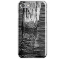 Old Piling and Reflection 1 BW iPhone Case/Skin
