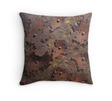 Color of Steel Throw Pillow