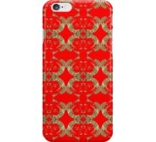 Audrey Gold Red Pattern iPhone Case/Skin