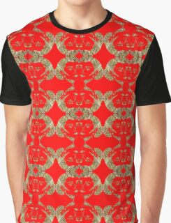 Audrey Gold Red Pattern Graphic T-Shirt