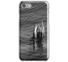 Single Old Piling Vertical 3 BW iPhone Case/Skin
