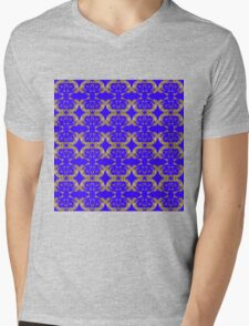Audrey Gold Blue Violet Pattern Mens V-Neck T-Shirt