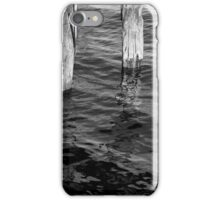 Two Old Pilings 2 BW iPhone Case/Skin