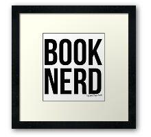 Book Nerd Framed Print