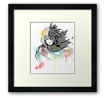 Howl watercolor  Framed Print