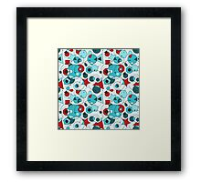 Colorful Abstract Geometric Shapes Framed Print