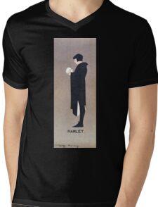 Beggarstaffs, Hamlet and the Skull Mens V-Neck T-Shirt