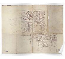 Civil War Maps 2200 Richmond vicinity Poster