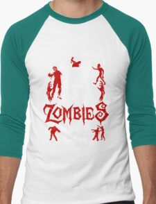 I Would Push You In Front Of Zombies To Save My Cat T Shirt , Hoodies , Mugs & More Men's Baseball ¾ T-Shirt