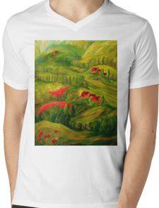 Tuscany at Dawn Mens V-Neck T-Shirt