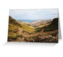 Sani Pass, Lesotho and South Africa Greeting Card