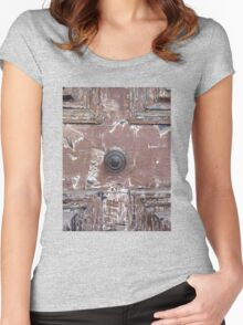 Old Rustic French door Women's Fitted Scoop T-Shirt