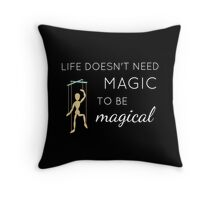 Night of Cake and Puppets - quote Throw Pillow