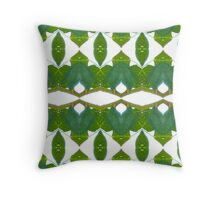 Cool green and white pattern Throw Pillow