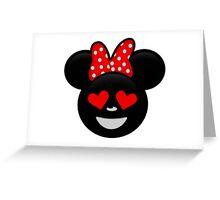 Minnie Emoji - In Love Greeting Card