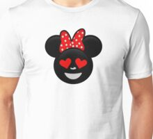 Minnie Emoji - In Love Unisex T-Shirt