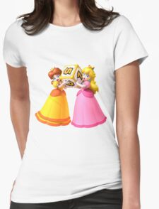 Princess Peach and Daisy Womens Fitted T-Shirt