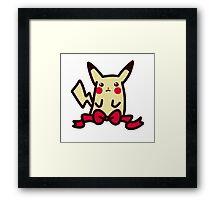 Ribbon Pikachu Framed Print