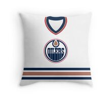 Edmonton Oilers 2003-07 Away Jersey Throw Pillow