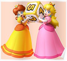 Princess Peach and Daisy Poster