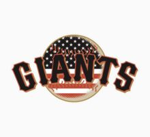 San Francisco Giants Flag Logo Kids Tee