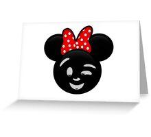 Minnie Emoji - Wink Greeting Card