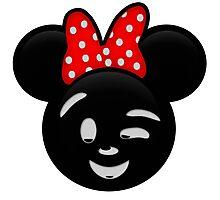 Minnie Emoji - Wink Photographic Print