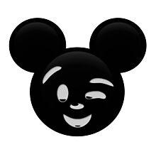 Micky Emoji - Wink Photographic Print