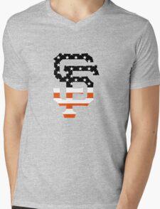 San Francisco Giants Flag Logo Mens V-Neck T-Shirt