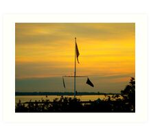 Charleston Harbor Sunrise in November Art Print