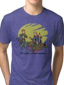 It just a flesh wound... Tri-blend T-Shirt