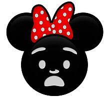 Minnie Emoji - Shock Photographic Print