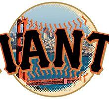 San Francisco Giants Skyline Logo by j423985