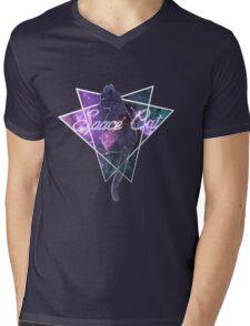 The Space Cat Mens V-Neck T-Shirt