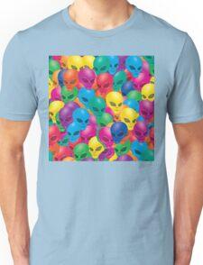 rainbow alien pattern Unisex T-Shirt