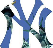 New York Yankees Statue Logo by j423985