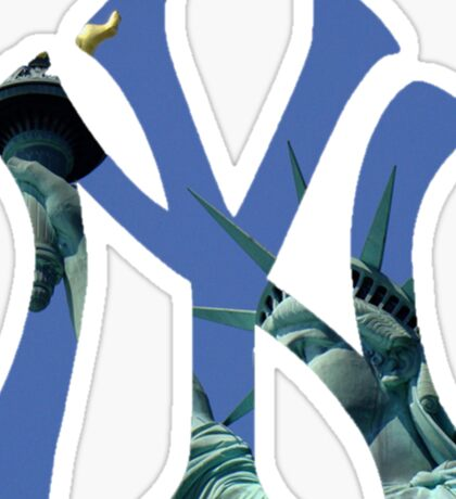 New York Yankees Statue Logo Sticker