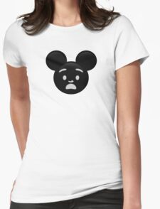 Micky Emoji - Shock Womens Fitted T-Shirt