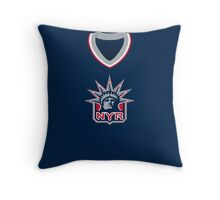 New York Rangers 1996-98/1999-2007 Alternate Jersey Throw Pillow