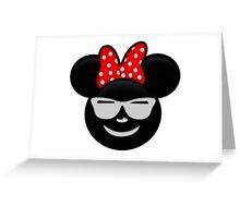 Minnie Emoji - Shades Greeting Card