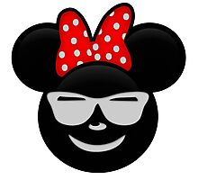 Minnie Emoji - Shades Photographic Print