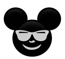 Micky Emoji - Shades Photographic Print