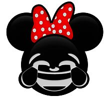 Minnie Emoji - Laughter Photographic Print