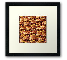 hamboiga woild hamburger world Framed Print